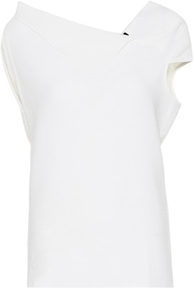 Roland Mouret Raywell wool-crApe top