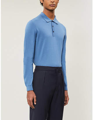 Oscar Jacobson Ruben cotton-knit polo shirt