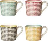 OKA Herrinko Mugs, Set of 4 - Multi