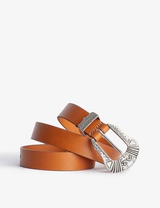 Zadig & Voltaire Alton Western-buckle leather belt