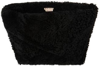 Marni Black Shearling Shrug