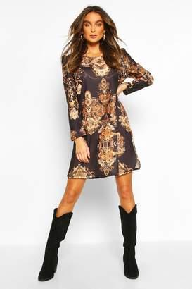 boohoo Chain Print Shift Dress
