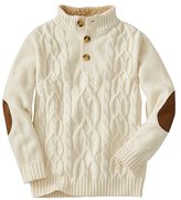 Boys Cable Cozy Henley Sweater