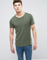 United Colors Of Benetton T-shirt With Raw Hem Neck
