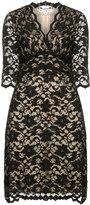 Kiyonna Plus Size Three-quarter length sleeve dress