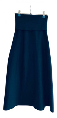 Lemaire Navy Wool Skirts
