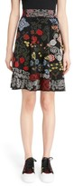 Alexander McQueen Women's Cross Stitch Jacquard Skirt