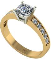 Moissanite Premier Collection 9ct Gold 1.05ct Total Cushion Cut Solitaire Ring