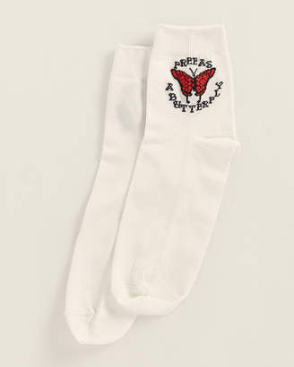 Missoni White Classic Free As A Butterfly Socks