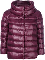 Herno three-quarters sleeve puffer jacket