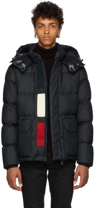 Moncler Navy Down Glacier Jacket