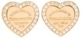 Tiffany & Co. & Co. 18K Pink Gold Diamond Return to Heart Earrings