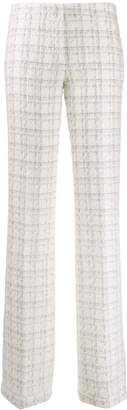 Genny tweed woven low-rise trousers