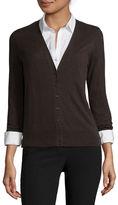 WORTHINGTON Worthington Long-Sleeve Button-Front Cardigan - Tall