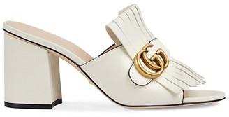 Gucci GG Marmont Slide Heeled Sandals