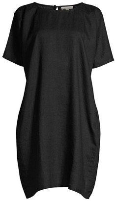 Eileen Fisher Roundneck Linen Shift Dress