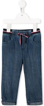 Tommy Hilfiger Junior striped waistband straight jeans