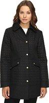 Ellen Tracy Outerwear Women's Quilted Barn Coat