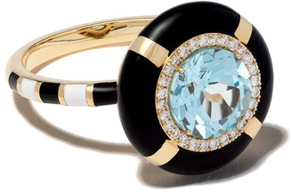 N. 18kt gold diamond Show Tell Ready To Celebrate ring