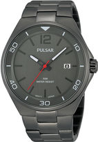 Pulsar Easy Style Mens Gray Stainless Steel Watch PS9327