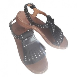 Church's Black Leather Sandals