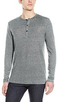 Theory Men's Arlee L Zephyr Wash Shatter Print Long Sleeve Henley Shirt