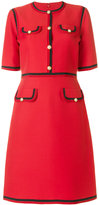 Gucci Web trim shift dress - women - Silk/Cotton/Acetate/Wool - 40