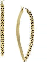 BCBGeneration Cheveron Teardrop Textured Hoops