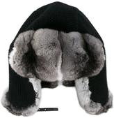 Inverni chinchilla fur-lined trapper hat