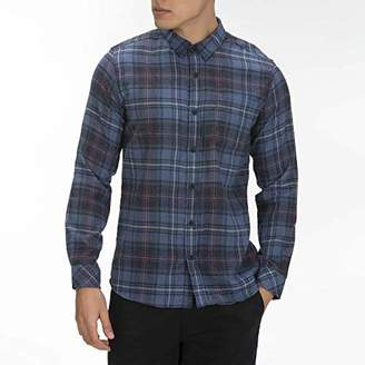 Hurley Men's Plaid Vedder Flannel Long Sleeve Button Up