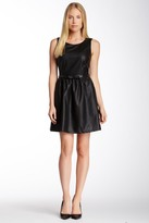 Julie Brown Eva Faux Leather Sleeveless Dress