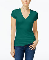 INC International Concepts Ribbed V-Neck Top, Only at Macy's