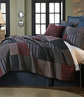 Daniel Cremieux Spencer Diamond-Embroidered Striped Patchwork Quilt Mini Set