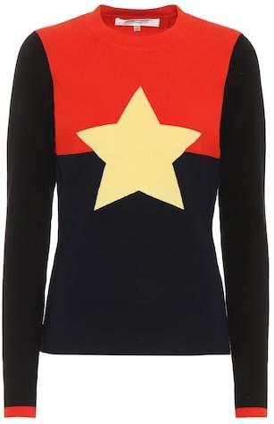 Diane von Furstenberg Wool-blend star sweater