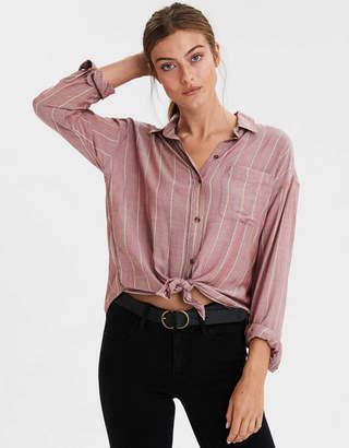 AE Striped Button Up Shirt