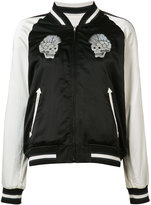 R 13 skull bomber jacket - women - Silk/Cotton - S