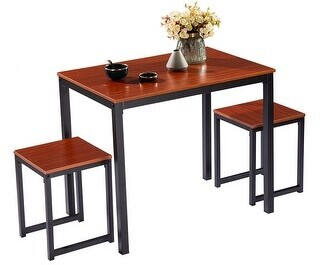 Overstock Breakfast Bar Bistro Table - 3-Piece Set