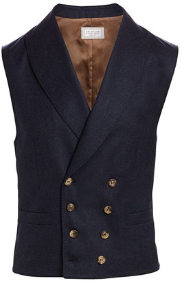 Brunello Cucinelli Double-Breasted Wool Gilet