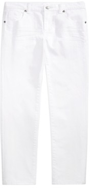 Epic Threads Toddler Boys Stretch Textured Twill White Jeans, Created for Macy's