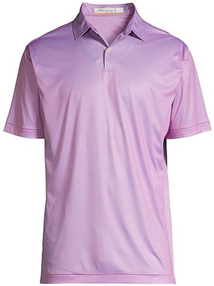 Peter Millar Featherweight Geo-Print Polo