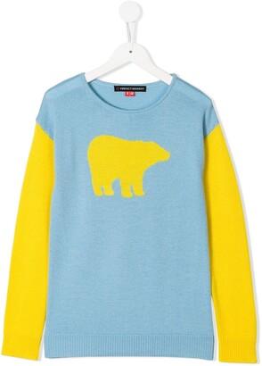 Perfect Moment Kids Bear Crew Neck Sweater