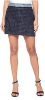 Juicy Couture Denim And Tweed Mixed Skirt