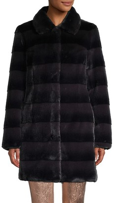 Belle Fare Two-Tone Faux Fur Coat