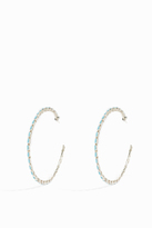 JESSIE WESTERN Deli Turquoise Hoop Earrings