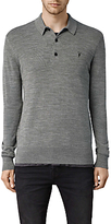 Allsaints Allsaints Mode Long Sleeve Knitted Top, Grey Marl