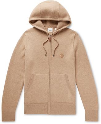 Burberry Cashmere-Blend Zip-Up Hoodie