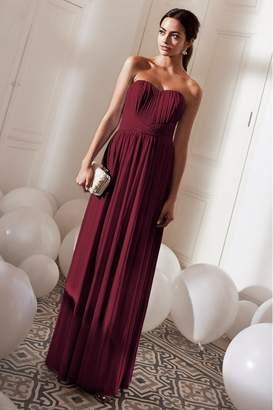 Lipsy Bella Mesh Multiway Maxi Dress - 6 - Red