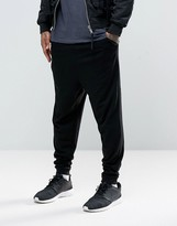 Asos Drop Crotch Joggers In Lightweight Jersey