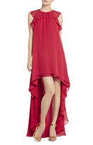 BCBGMAXAZRIA Fais Silk High-Low Dress