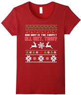 Men's Funny Why is the Carpet All Wet Todd Couples T-Shirt Christm Small